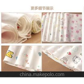 泉贝儿单条包装双层高密度纱布口水巾 手帕手绢不含荧光剂10057