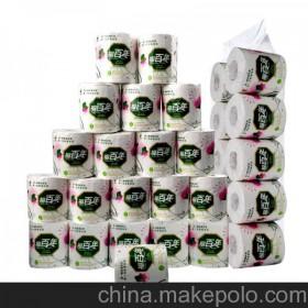 纯木浆 无荧光剂 聚源空心卷筒纸,独立包装卫生纸