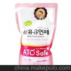 韩国进口批发 ATOSafe爱童舒 婴幼儿衣物柔顺剂1.3L 不含荧光剂