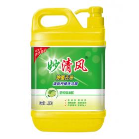 妙清风洗洁精 1280克除菌去油洗洁精 天津炫白洗涤用品