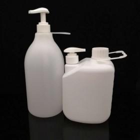 2升磨砂洗手液塑料瓶 2公斤洗手液瓶 双口沐浴露瓶塑料桶