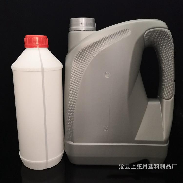 供应机油壶4L润滑油桶 pe塑料瓶 汽车机油瓶 机油桶